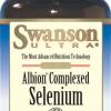Swanson Albion Complexed Selenium 200 mcg ต้านอนุมูลอิสระ ชะลอการแก่ก่อนวัย ป้องกันผมร่วงและเป็นหมัน