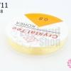 เอ็นยืด แบบกลม สีเหลืองอ่อน เบอร์ 0.8 (1ม้วน/10 หลา)
