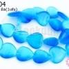 หินตาแมว หัวใจ สีฟ้าเข้ม 16มิล (จีน) (1เส้น)