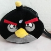 ที่ใส่โทรศัพท์ + สายคล้อง angry bird สีดำ