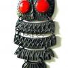 จี้รูปนกฮูก สีรมดำ 40X85 มิล (1ชิ้น)
