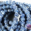 ลูกปัดเซรามิค ลาย สีน้ำเงิน 10 มิล (จีน) (1เส้น)