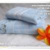 เซ็ทผ้าขนหนูเช็ดตัว & ผ้าเช็ดผม สีฟ้า