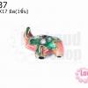 ลูกปัดกังไส ช้าง สีโอรส 19X17มิล(1ชิ้น)