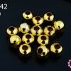 ลูกปัดโลหะ สีทอง กลม 8มิล (1ขีด/100กรัม)