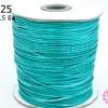 เชือกค๊อตต้อนเคลือบ สีฟ้าอมเขียว 1.5มิล (1ม้วน/100หลา)
