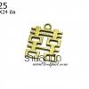 จี้ทองเหลือง รูปลายจีน 20X24 มิล (1ชิ้น)