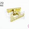 ตะขอสร้อยเพชร 6 แถว สีทอง 20X24มิล(1ชิ้น)