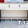 """T-121 โต๊ะคอมต่างระดับ """"เมลามีน"""" 120 ซม. (สีเมเปิ้ล-ขาดำเคฟล่า)"""
