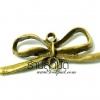 จี้ทองเหลืองรูปโบว์แบบโปร่ง ขนาด 33 มิล ยาว 13 มิล ราคา 10 บาท