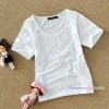 เสื้อยืดคลุมท้องคอกลม แขนสั้น : สีขาว รหัส SH015