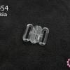 ตะขอเกี่ยว พลาสติก สีใส 16X18มิล(1ชิ้น)