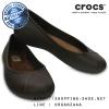 W6 (23 cm.) : Crocs Olivia II Lined Flat - Espresso ของแท้ Outlet ไทยและอเมริกา
