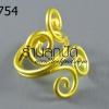 โครงแหวน ลวดทองเหลือง เถาวัลย์ (1วง)