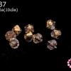 คริสตัลสวารอฟสกี้ (SWAROVSKI) สีชาเหลือบทอง 5มิล(10เม็ด)