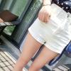 กางเกงขาสั้น สไตล์เกาหลี สีขาว