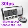 นาฬิกาตั้งโต๊ะ ซ่อนกล้องรูเข็มแอบถ่าย Hidden Spy Camera เมมโมรี่ภายใน 8 GB ถ่ายมุมกว้างได้ 30เมตร