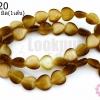 หินตาแมว หัวใจ สีน้ำตาลทอง 10มิล (จีน) (1เส้น)
