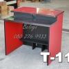 """โต๊ะคอมพิวเตอร์ต่างระดับตัวล่ะ 1180 บาท T-114 ดำ/ขาแดง """"เมลามีน"""""""