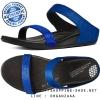 US6 : Fitflop Banda Micro Crystal Slide Mazarine Blue ของแท้ นำเข้าจาก USA และ UK