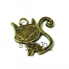 จี้ทองเหลืองรูปแมว ขนาด 20 มิล ยาว 20 ราคา 10 บาท