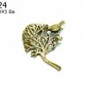 จี้ทองเหลือง รูปต้นไม้ 35X43 มิล (1ชิ้น)