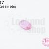 เพชรพญานาคหรือมณีใต้น้ำ ไม่มีรู รีหลังเต๋า สีชมพู 12X16มิล(1ชิ้น)