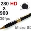 ปากกานักบริหาร ซ่อนกล้องจิ๋ว รูเข็มแอบถ่าย Hidden Spy Camera ใช้เมมโมรี่ SD ได้ถึง 8GB ถ่ายภาพ & VDO ระดับ HD