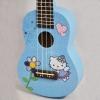 อูคูเลเล่ Ukulele KAKA รุ่น KUS-120 ลาย Hello Kitty สีฟ้าเข้ม ไม้ Linden สาย White ฟรีกระเป๋า