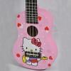 อูคูเลเล่ Ukulele KAKA รุ่น KUS-120 ลายการ์ตูน Hello Kitty สีชมพูเข้ม ไม้ Linden สาย White ฟรีกระเป๋า