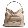 กระเป๋า COACH รุ่น MADISON OP ART PEARLESCENT HOBO F27906