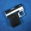 ไฟแช็คปืนออโต้สีเงิน-ดำ