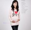 เสื้อคลุมท้องแขนยาว สกีนลาย I LOVE NY : สีชมพู รหัส SH147