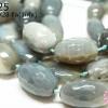 หินอาเกต สีเทา ทรงกระบอก 21X28มิล (จีน) (1เส้น)