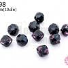 คริสตัลสวารอฟสกี้ (SWAROVSKI) สีม่วงเข้ม เจียรเหลี่ยม 5มิล(10เม็ด)