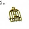 จี้ทองเหลือง กรงนกแบบบาง 12X20 มิล (1ชิ้น)