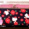 กระเป๋คิตตี้ของแท้ใหม่เอี่ยม ซื้อจากนาโกย่าแอร์พอร์ตที่ญี่ปุ่น สีดำลายแดง ใส่ตังค์ บัตรเครดิตและมือถือได้ ราคาเต็ม 1200 บาท ซื้อตอนsaleพอดี ขายแค่550