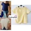 เสื้อแฟชั่น ผ้าฮานาโกะ สีเหลือง แบบสวยเก๋ เนื้อผ้านิ่ม อยู่ทรง ไม่ยับง่าย ใส่สบาย สินค้าคุณภาพ ราคาไม่แพง