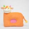 หมอนเด็ก Head protection pillow หมอนหลุม หมอนหน้าสัตว์ หมอนหน้าวัว สีส้ม (ส่งฟรี)