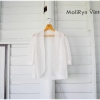 เสื้อคลุมถัก สีขาว