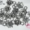 จี้โรเดียม ดอกกุหลาบ 10x17 มิล (1ชิ้น)