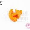 จี้โรเดียม สมอเรือ สีส้ม 28 มิล (1ชิ้น)