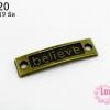 จี้ทองเหลือง ลายตัวอักษร Believe 8x19 มิล (1ชิ้น)