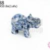 หินโซดาไลท์ ช้าง 24X50มิล (1ชิ้น)