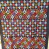 ผ้าปักมือ โทนสีส้มลายโบราณ (1คู่)