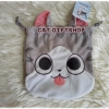 พร้อมส่ง :: ถุงหูรูด แมวจีจี้ 18 x 18 cm