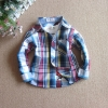 เสื้อเชิตเด็กลายสก็อต 120-140 ซม [พรี ออเดอร์]