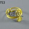 โครงแหวน ลวดทองเหลืองก้นหอยสองด้าน (1วง)