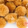 ปอมปอมไหมพรม สีน้ำตาล 3.5ซม. (100ลูก)