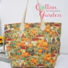กระเป๋าผ้าญี่ปุ่น ทรง Never full สายหนังแท้ ผ้าอเมริกา สีสันสดใส (สินค้าฝากขาย ไม่บวกเพิ่ม )